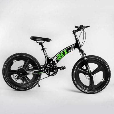 Детский спортивный велосипед 20'' CORSO «T-REX» TR-88103 (1) магниевая рама, оборудование MicroShift, 7 скоростей, собран на 75