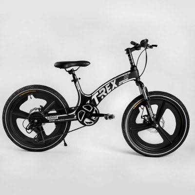 Детский спортивный велосипед 20'' CORSO «T-REX» TR-66205 (1) магниевая рама, оборудование MicroShift, 7 скоростей, собран на 75