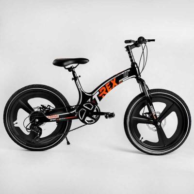 Детский спортивный велосипед 20'' CORSO «T-REX» TR-77006 (1) магниевая рама, оборудование MicroShift, 7 скоростей, собран на 75