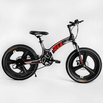 Детский спортивный велосипед 20'' CORSO «T-REX» TR-97001 (1) магниевая рама, оборудование MicroShift, 7 скоростей, собран на 75