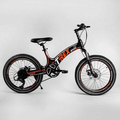 Детский спортивный велосипед 20'' CORSO «T-REX» 70432 (1) магниевая рама, оборудование MicroShift, 7 скоростей, собран на 75