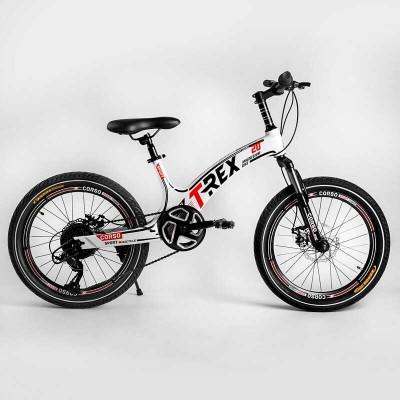 Детский спортивный велосипед 20'' CORSO «T-REX» 64899 (1) магниевая рама, оборудование MicroShift, 7 скоростей, собран на 75