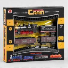 """Железная дорога 13001-1 В (36/2) """"Грузовой поезд"""", на батарейках, 12 детали, локомотив с эффектами, 3 вагона, в коробке"""