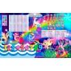 """гр Парта школьная """"Пони Русалка"""" ЛДСП ПШ 019 (1) 69*45 см., цвет розовый, + 1 стул, с пеналом"""
