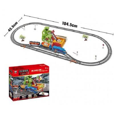 Железная дорога 20817 (12/2) свет, 2 скорости, на батарейках, в коробке