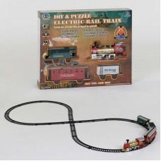 """Железная дорога 238 (18/2) """"Пассажирский паровоз"""", на батарейках, 39 элементов, длина путей 698 см, 3 вагона, звук, свет прожектора, в коробке"""