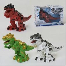 Робот Динозавр 888-2 (60/2) 3 цвета, на батарейках, ходит, подсветка глаз, звук, в коробке