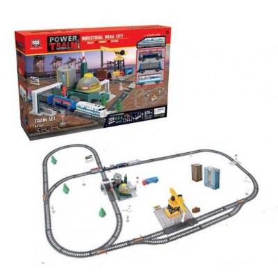 Железная дорога 2087 (8/2) свет, звук, 61 элемент, длина путей 670см, вагон заполняется водой, в коробке