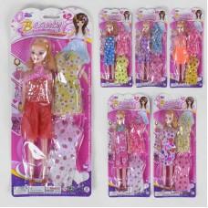 Кукла 8808 С-51 (336/2) 6 видов, платья, на листе