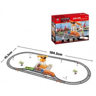 Железная дорога 20819 (12/2) локомотив, вагоны 2шт, свет, на батарейках, в коробке